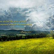 Inspirational - Eternal Hope - Psalms 19-1 Art Print