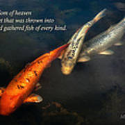 Inspirational - Gathering Fish Of Every Kind - Matthew 13-47 Art Print by Mike Savad