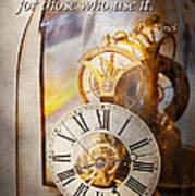 Inspirational - Time - A Look Back In Time - Da Vinci Art Print