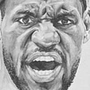 Intensity Lebron James Art Print
