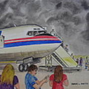 Interam Airlines Flight One Clearwater Florida To Bristol England Art Print
