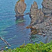 Interesting Rock Shapes In Trinity Bay Near Skerwink Trail-nl Art Print