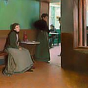 Interior Of A Cafe Art Print