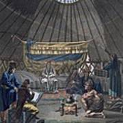 Interior Of A Kalmuk Yurt, 1812-13 Art Print