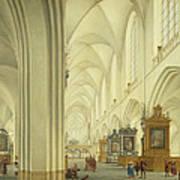 Interior Of Antwerp Cathedral, C.1668 Art Print