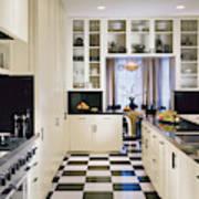 Interior Of Modern Kitchen Canvas Print
