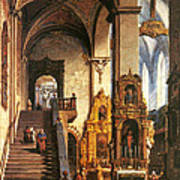 Interior Of The Dominican Church In Krakow Art Print