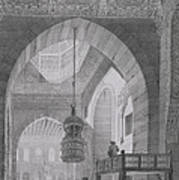 Interior Of The Mosque Of Kaid-bey Art Print