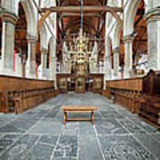 Interior Of The Oude Kerk In Amsterdam Art Print