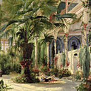 Interior Of The Palm House At Potsdam Art Print
