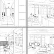 Interior Office Rooms Art Print