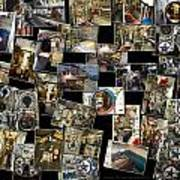 Interior Russian Submarine Horz Collage Art Print