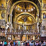 Interior St Marks Basilica Venice Art Print