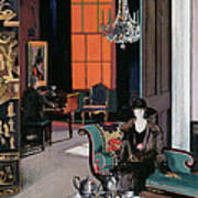 Interior - The Orange Blind, C.1928 Art Print