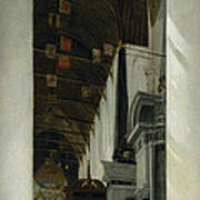 Interior View Of The New Church In Delft Art Print