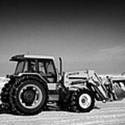 international 5140 tractor with front end loader on frozen field Forget Saskatchewan Canada Art Print