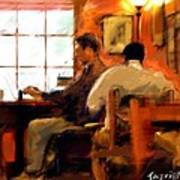 Internet Coffee House Art Print