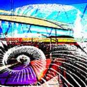 Interstate 10- Cushing St Overpass- Rectangle Remix Art Print
