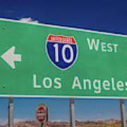 Interstate 10 Highway Signs Art Print