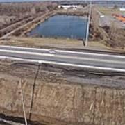 Interstate 75 Construction Ohio Aerial Art Print