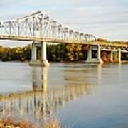 Interstate Bridge In Winona Art Print
