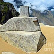 Inti Watana Stone Calendar At Machu Picchu Art Print