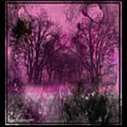 Into A Dark Pink Forest Art Print