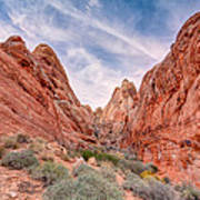 Into Valley Of Fire Art Print