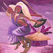 Intore Dance From Rwanda Art Print