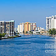 Intracoastal Waterway In Hollywood Florida Art Print