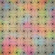 Intricacy Digital Seamless Design Art Print