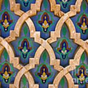 Intricate Zelji at the Hassan II Mosque Sour Jdid Casablanca Morocco Art Print