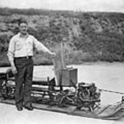 Inventor Of First Snowmobile Art Print