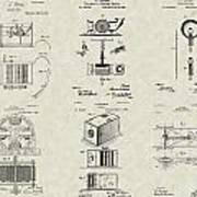 Inventors Patent Collection Art Print