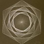Inverted Energy Spiral Art Print
