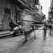 Invisible Rickshaw Puller Art Print