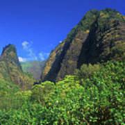 Io Needle And Valley Maui Hawaii Art Print