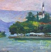 Ioannina Lake Art Print by George Siaba
