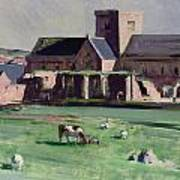 Iona Abbey From The Northwest Art Print