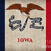 Iowa State Flag Art Print by Pixel Chimp