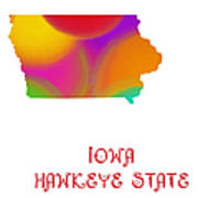 Iowa State Map Collection 2 Art Print