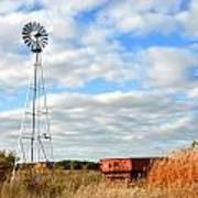 Iowa Windmill Art Print