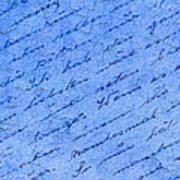 Iphone Case Blue Handwriging Art Print