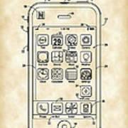 iPhone Patent - Vintage Art Print