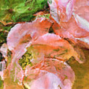 Iphone Pink Rose Digital Paint Art Print