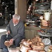 Iran Isfahan Copper Artisan Art Print