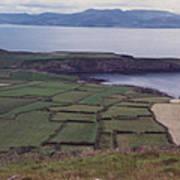 Ireland Emerald Isle Fields By Jrr Art Print