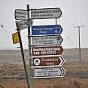 Ireland Road Sign 1 Art Print