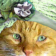 Irish Cat Art Print