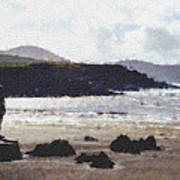 Irish Coast Pastel Chalk Art Print